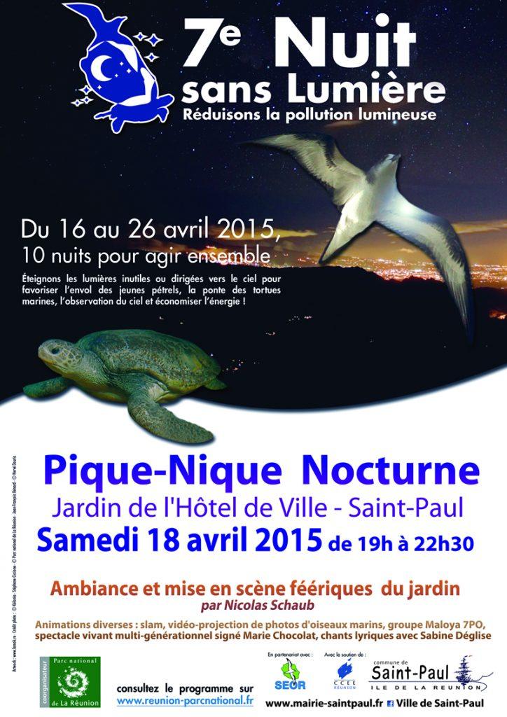 Affiche nuit sans lumiere 2015 St-Paul
