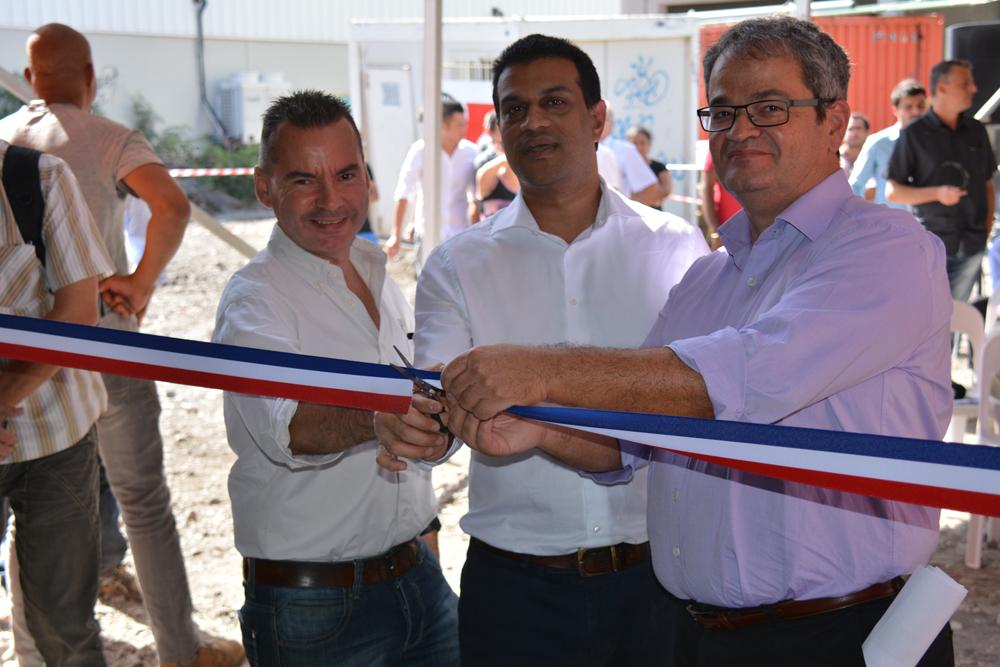 M. Bernard Robert (3ème adjoint  à la Mairie du Port) et M. Joël Personné (président d'Actisem) que le vice président du TCO, M