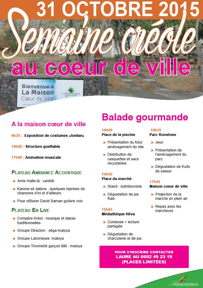 affiche semaine créole
