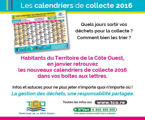 calendriers de collecte -2016