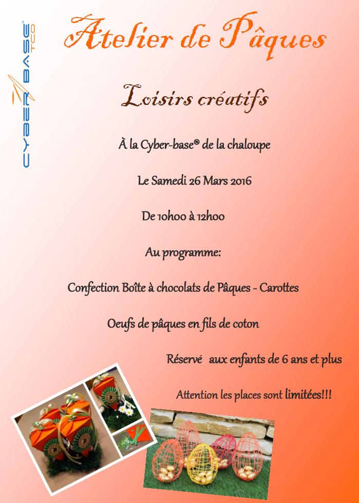 Saint-Leu organise un atelier de Pâques